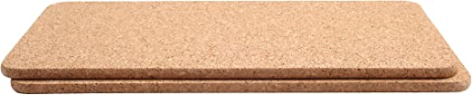 40 X Set Of 2 TG Fsc Certified Cork Rectangular Pot Stands//Surface Protectors