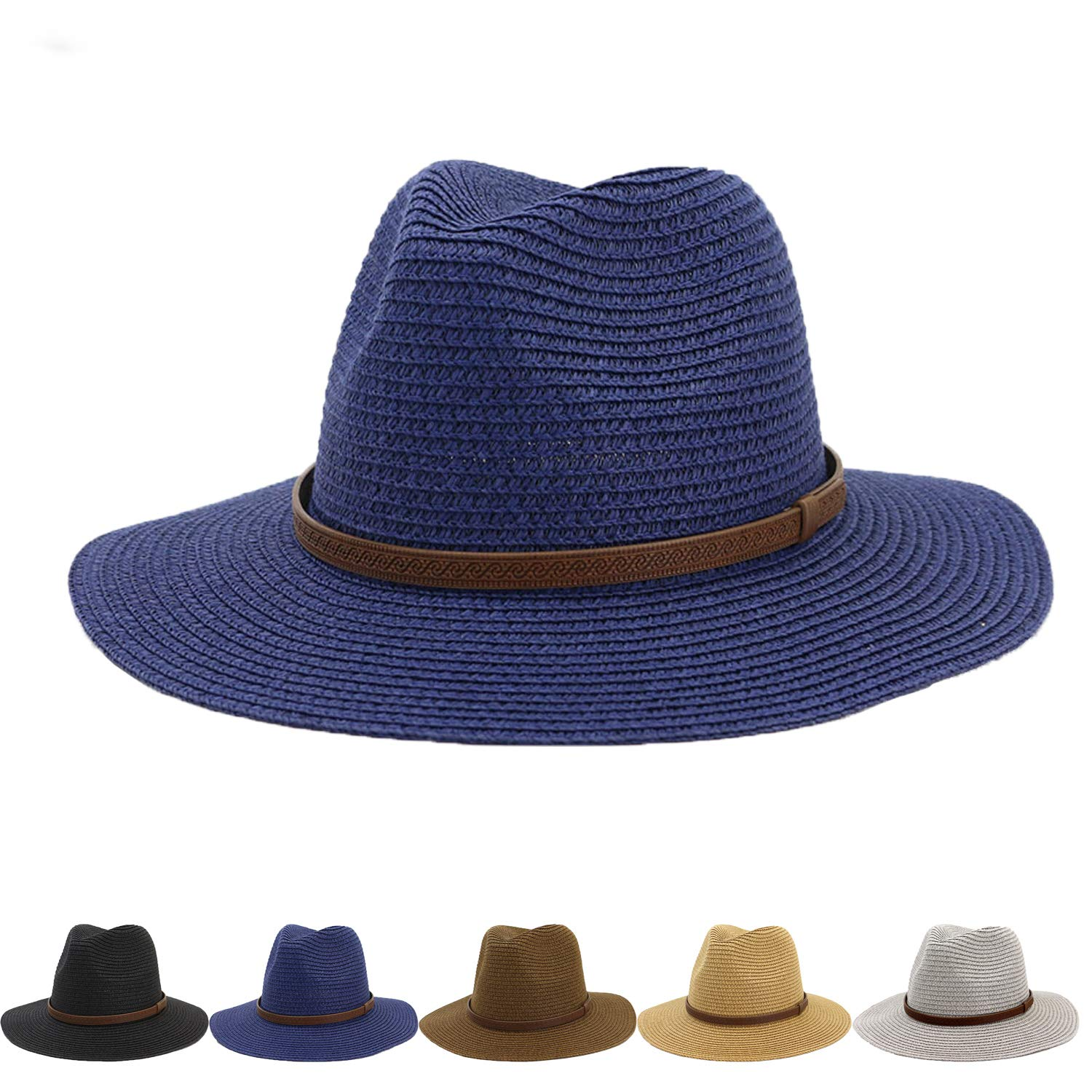 Vintage Unisex Fedora Hat Classic Timeless Light Weight Beach Outdoor Sunscreen Sunshade Beach Sunhat