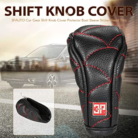 Kkmoon Auto Schaltknauf Cover Schutz Abdeckungboot Sleeve Aufkleber Head Trim Auto
