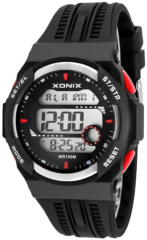 XONIX Reloj digital - 15 x lap memoria temporizador de intervalos, 3 x, hora mundial, alarma de 8 x, wr100 m, xdsj/5: Amazon.es: Relojes