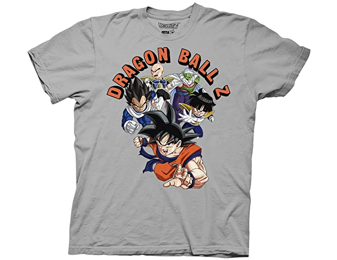 df9cc00e Ripple Junction Dragon Ball Z Frieza Series Z Fighters Adult T-Shirt Small  Silver