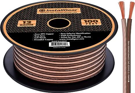 Amazon installgear 12 gauge speaker wire 999 oxygen free installgear 12 gauge speaker wire 999 oxygen free copper true spec and greentooth Gallery
