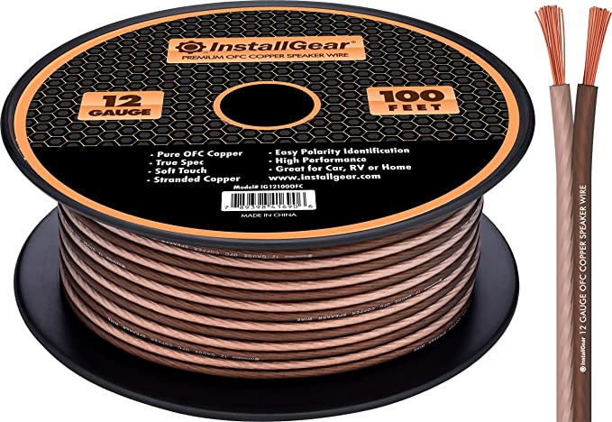 Amazon installgear 12 gauge speaker wire 999 oxygen free amazon installgear 12 gauge speaker wire 999 oxygen free copper true spec and soft touch cable 100 feet cell phones accessories greentooth Gallery