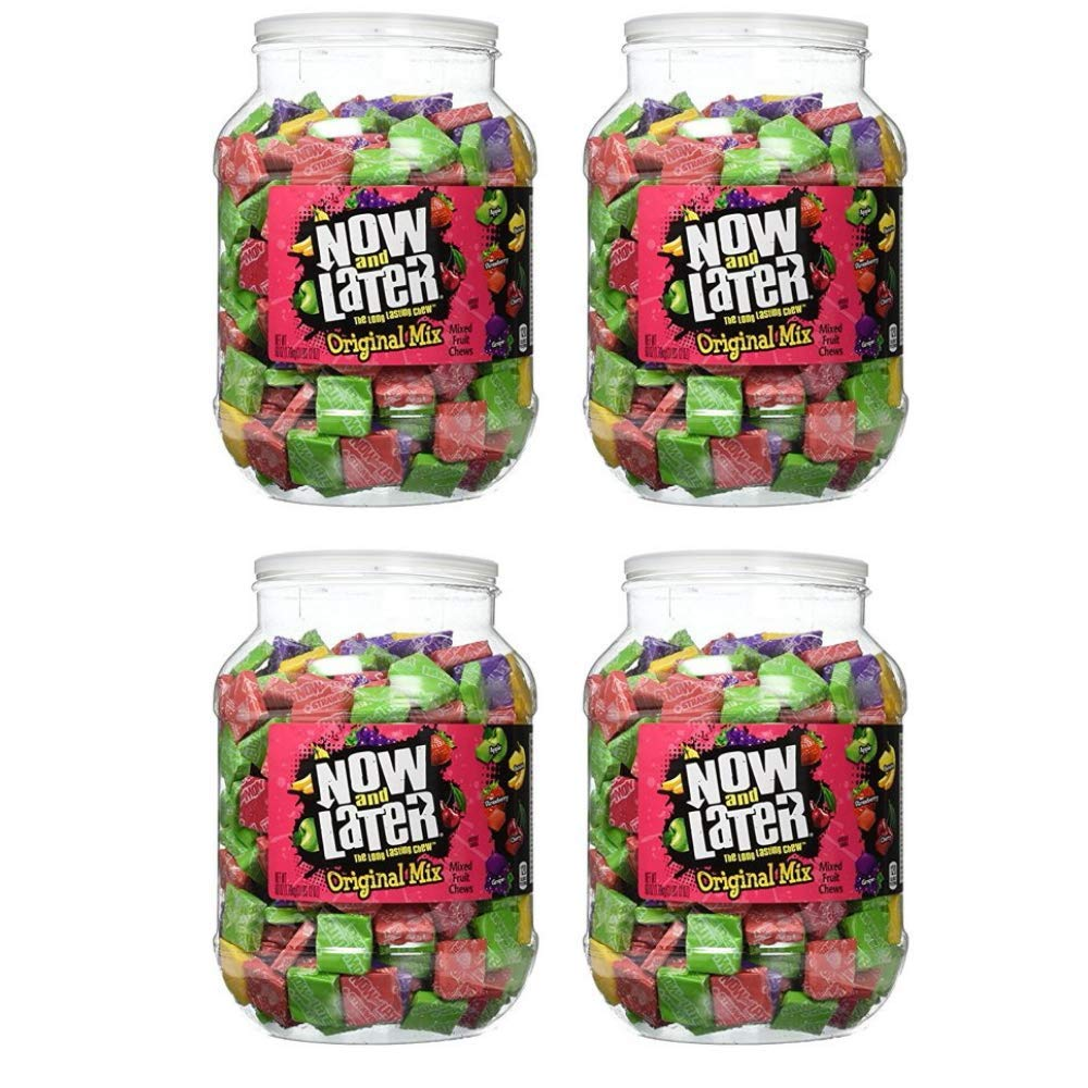 Now and Later Original Taffy Chews Candy Assorted 60 Ounce Jar by Now and Later