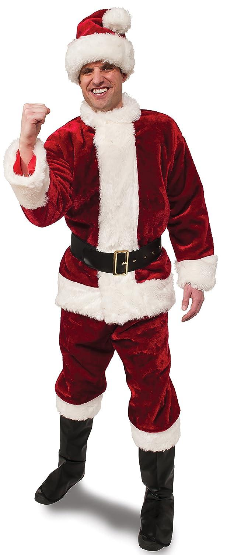 Red//White Rubie/'s Deluxe Ultra Velvet Santa Suit X-Large