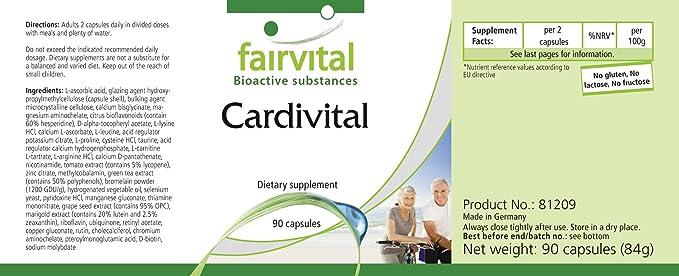 Cardivital - Vitaminas del corazón - rica multivitamínico ...