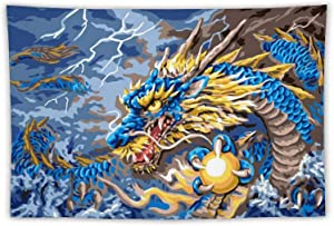 Pirvirle Dragon Tapestry Medieval Wall Hanging Mythical Fantasy Magical Soft Tapestries Home Decorations for Livingroom Bedroom Dorm Decor 60x40In