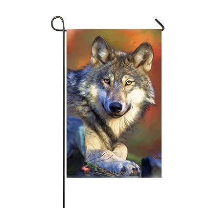 amazon com xasff pretty wolf garden flag decorative welcome flag