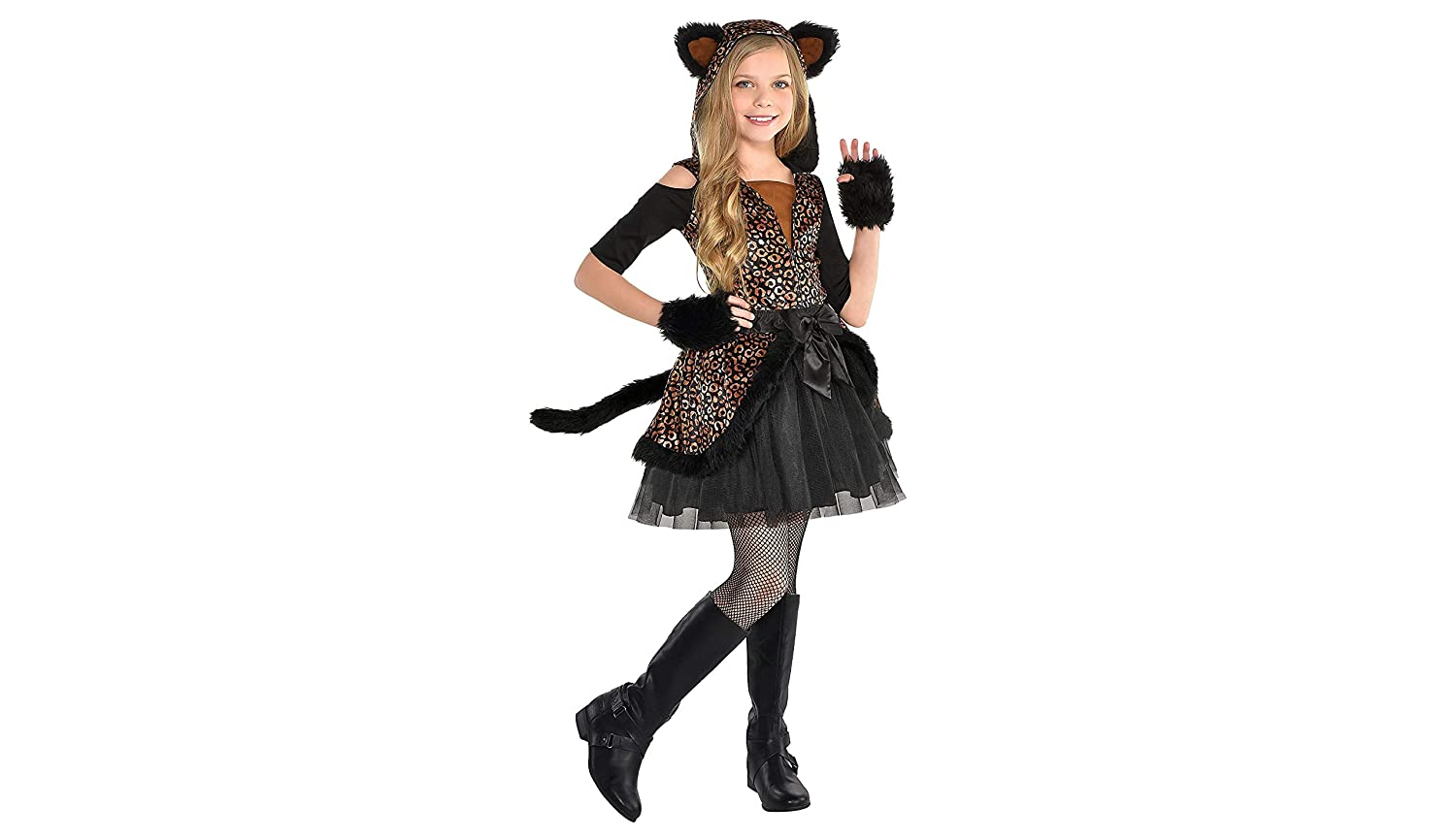 cc80c4b558ba Amazon.com: Leopard Dress Halloween Costume for Girls, Large, with Included  Accessories, by Amscan: Clothing