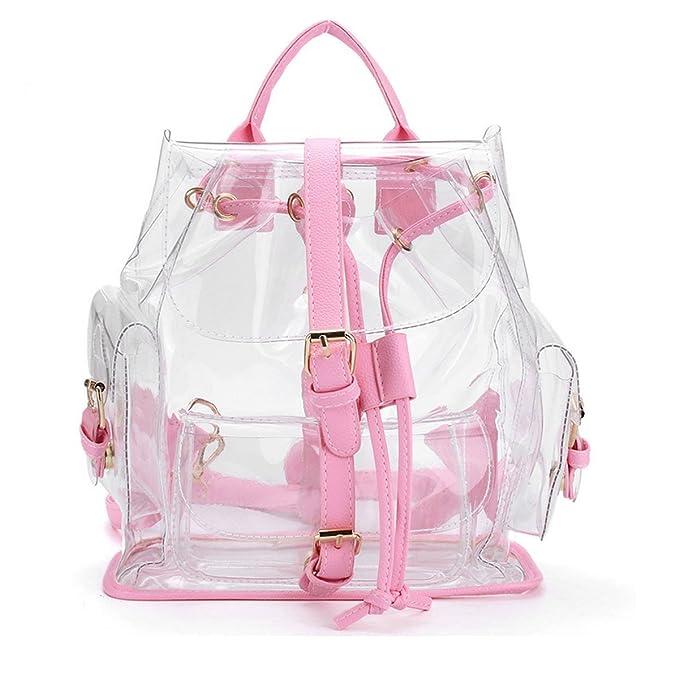 Amazon.com | ANPI Cute Stylish Summer Clear Backpack Rucksack Knapsack Satchel Transparent for Girls and Ladies Pink | Kids Backpacks