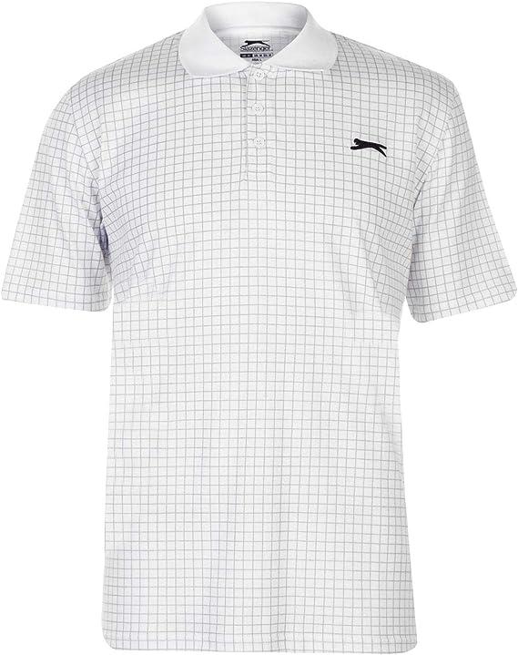 Slazenger Hombre Check Golf Camiseta Polo Manga Corta: Amazon.es ...