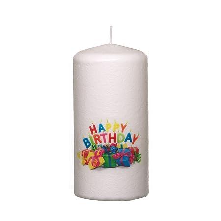 Smart Planet® Velas Ambiente - Grandes Cirio Happy Birthday ...