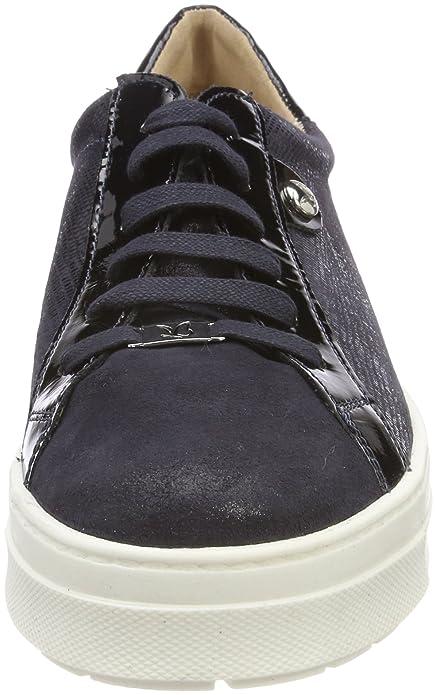 Caprice 23700, Zapatos de Cordones Oxford para Mujer, Azul (Ocean Rep Comb 814), 41 EU
