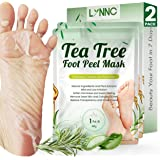 Tea Tree Foot Peel Mask For Dead Skin, Callused and Cracked Heels, Foot Mask Removes Rough Heels Dry Dead Skin,Makes Foot Sof