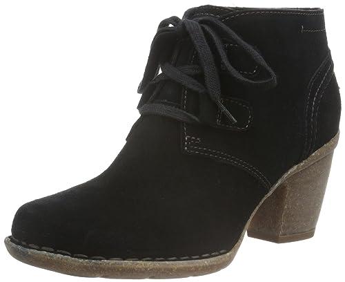 Clarks Carleta Lyon, Women's Ankle Boots, Black (Black SDE), 3 UK