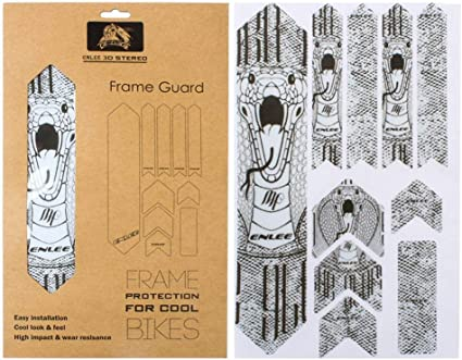 3D Stereo Bike Frame Protective Stickers Mountain Road Bicycle Decals Sticker