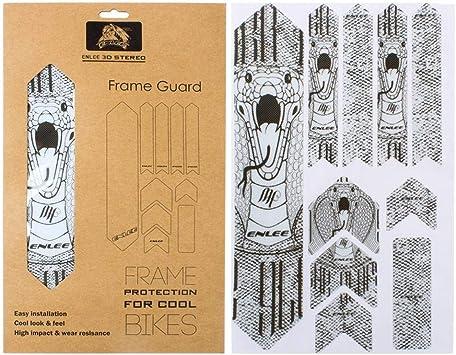 SH-Flying Autocollantes para Bicicletas, Protector De Cuadro De Bicicleta De Montaña, Pegatinas De Protección De Cuadro De Bicicleta De Montaña 3D Protector Antideslizante Resistente: Amazon.es: Deportes y aire libre