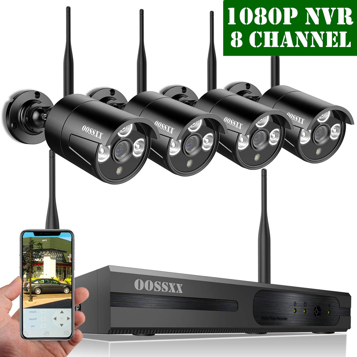 Best Security Cameras For Home Outdoor 2020.2020 Update Oossxx Hd 1080p 8 Channel Wireless Security Camera System 4 Pcs 720p 1 0 Megapixel Wireless Weatherproof Bullet Ip Cameras Plug
