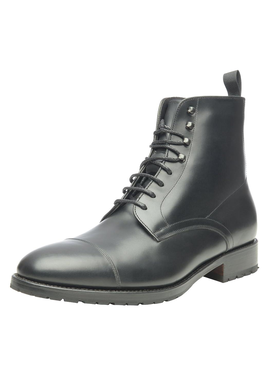 SchuhePASSION - No. 675 - WinterStiefel - Hochwertiger Winterschuh für Herren. Volllederstiefel mit kuscheliger Lammfellfütterung und Rutschfester Gummisohle.