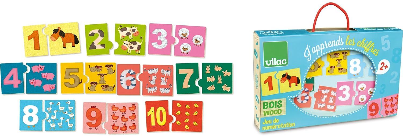 Vilac VILAC2732/12/x 7/cm Imparare i Numeri numerazione Game Pezzi