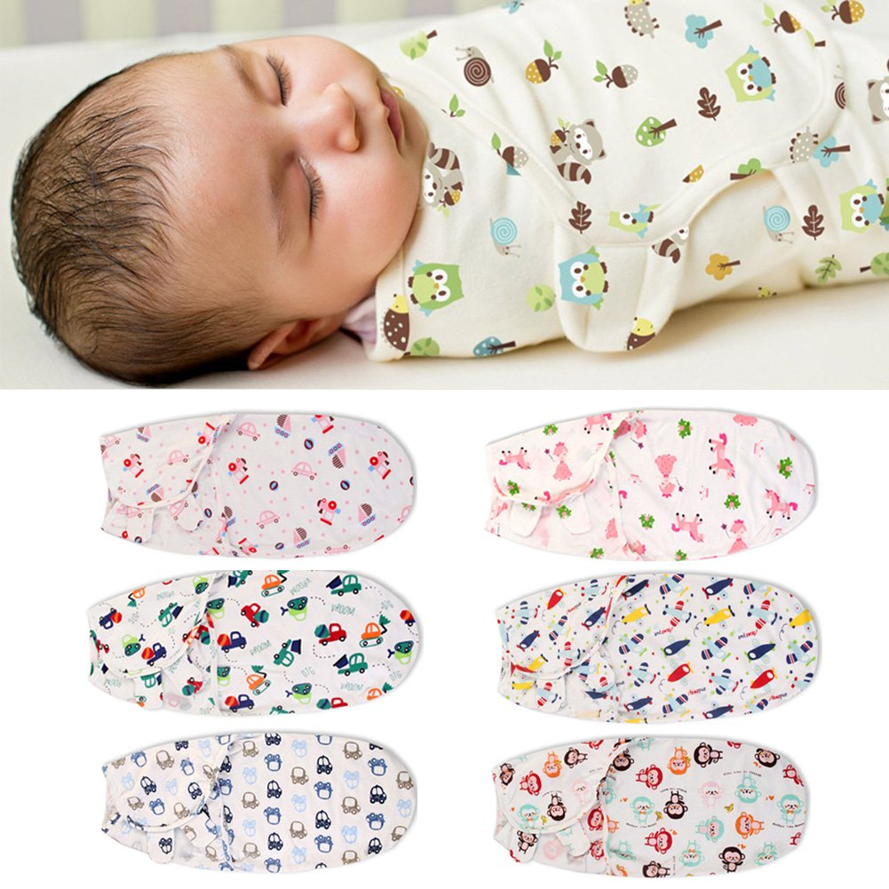 OUYAWEI Infant Thin Baby Wrap Envelope Swaddling Sleep Bag Sleepsack