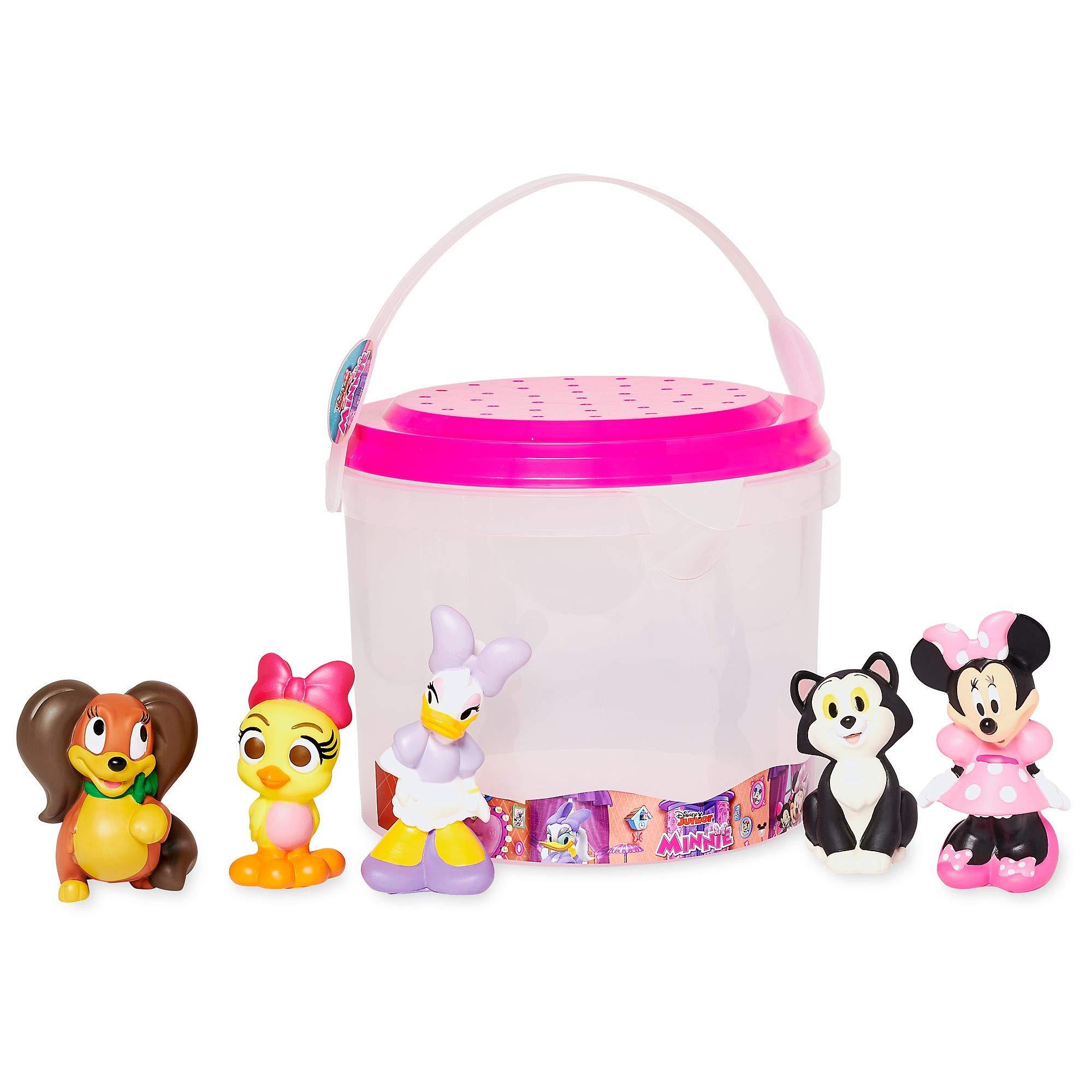 Disney Store Minnie Mouse Deluxe Bath Toys 5 Piece Set Tub Toy Playset