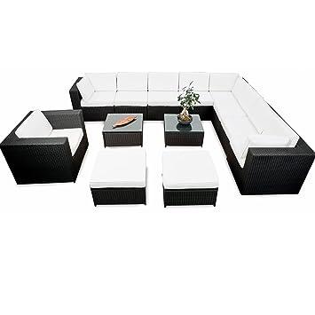 Lounge EckSet Polyrattan XXXL Gartenmöbel Für Balkon Und Terrase  Erweiterbar   Rattan Lounge Set
