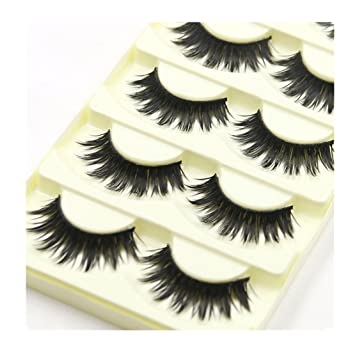 09954bd720b Image Unavailable. Image not available for. Color: WEUIE Eyelashes Hot Sale!  10 Pairs Thick Long Cross Party False Eyelashes Black Band Fake
