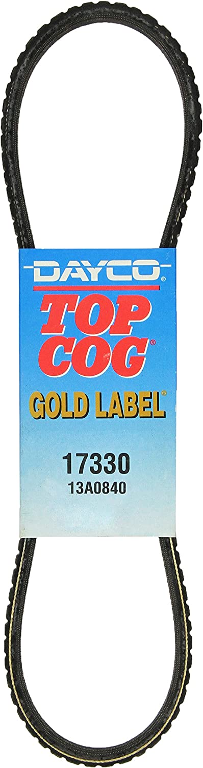 13A0840 Dayco 17330 Top Cog Belt Replacement Gold Label