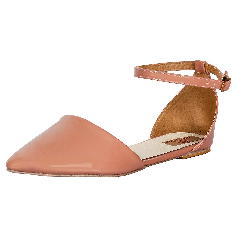 AUTHENTIC VOGUE Women's Ankle Strap Flat Sandals