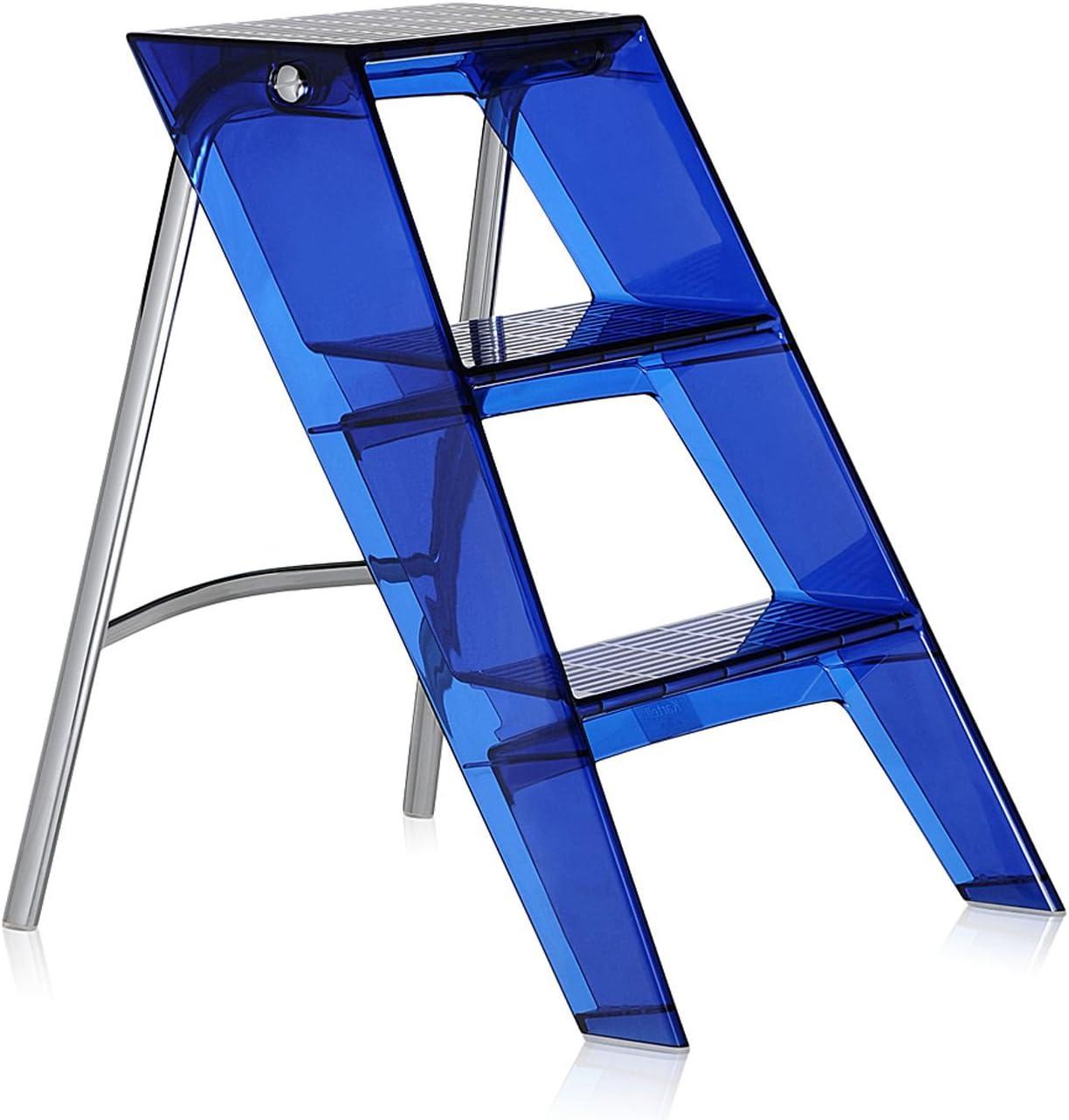 Kartell Upper – Escalera plegable de transparente azul cobalto (Original fabricado en Italia): Amazon.es: Bricolaje y herramientas
