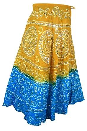 La ropa en funda rígida India algodón vestidos de falda Tie Dye ...