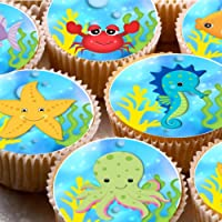 Decoración para tarta de baño, diseño de peces de mar submarinos, 24 ND3,