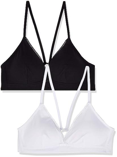 Marca Amazon - IRIS & LILLY Bralette de Modal Mujer, Pack de 2 ...