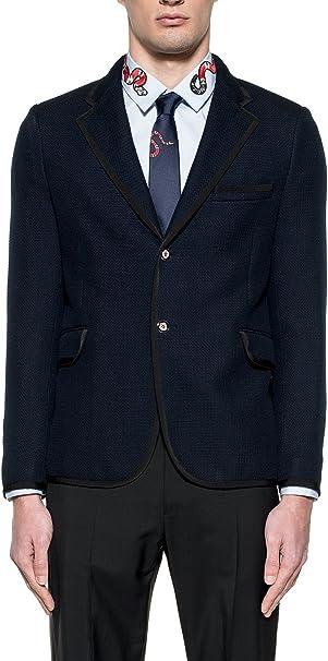 Gucci Hombre 456337Z47864090 Azul Algodon Blazer: Amazon.es ...
