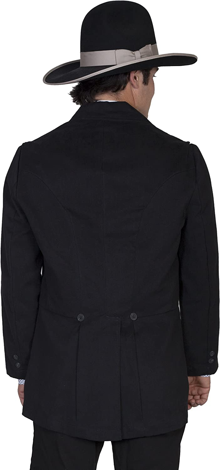 Wahmaker By Scully Mens Brushed Cotton Coat 524009 Black