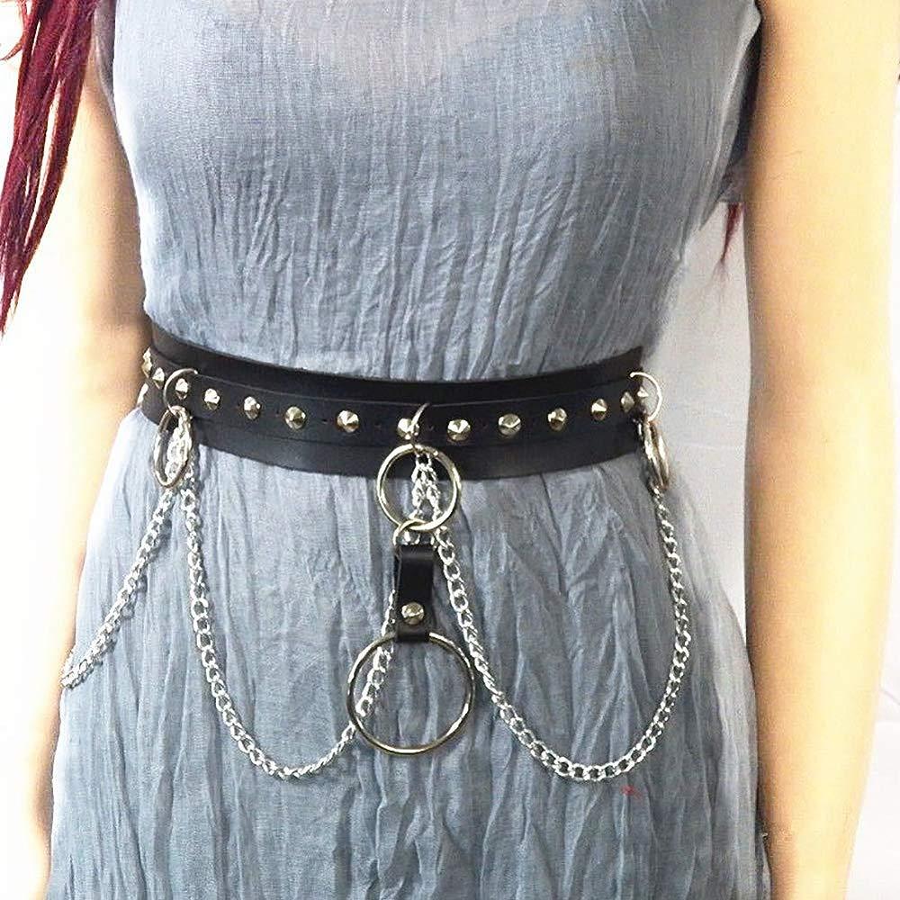 Ladies Body Harness Punk Carnival PU Leather Garter Leg Body Belt Adjustable Gothic Punk Club Costume