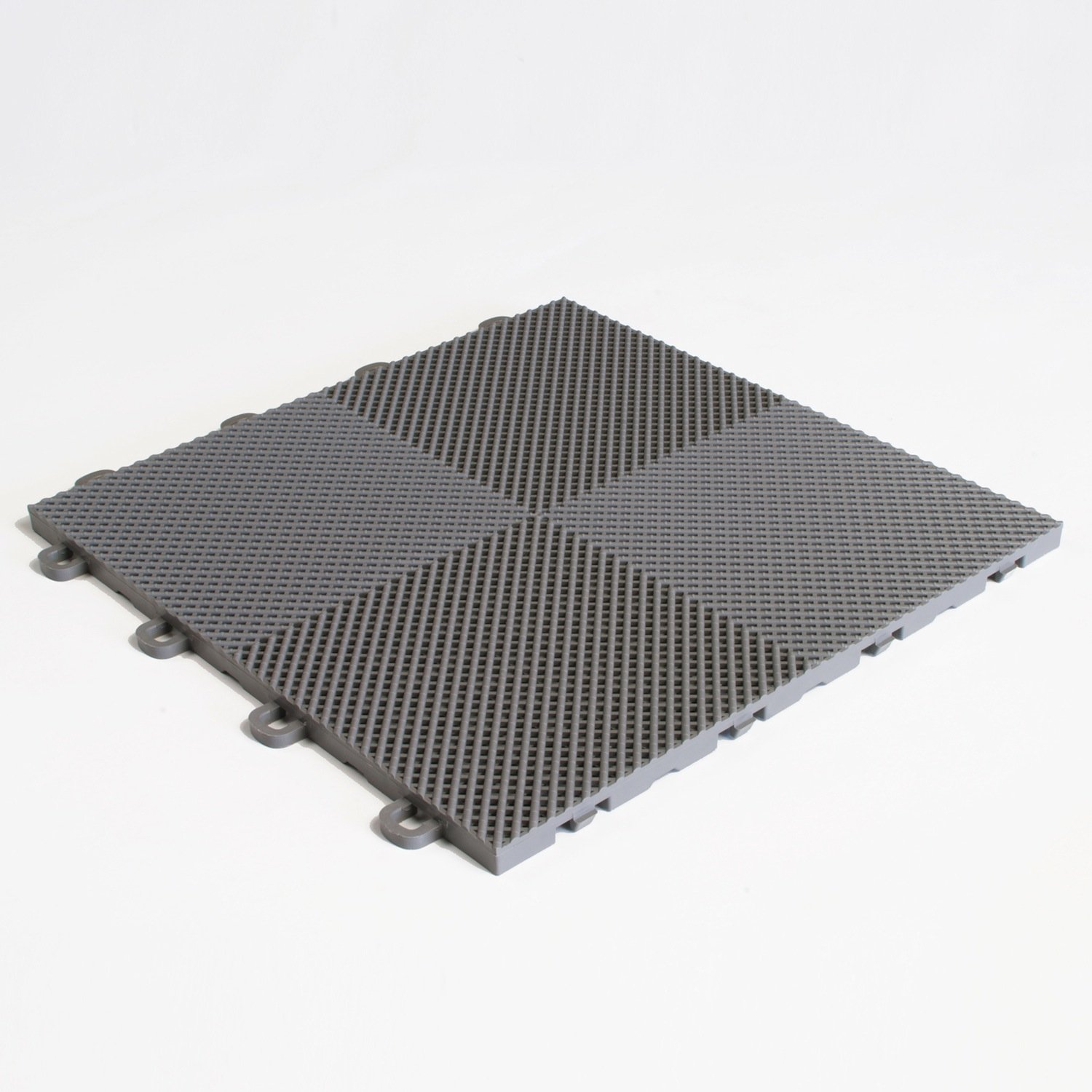 BlockTile B2US4630 Deck and Patio Flooring Interlocking Tiles Perforated Pack, Gray, 30-Pack by BlockTile (Image #1)