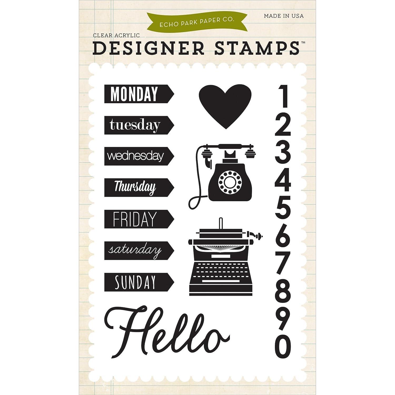 Echo Park Paper Company una una una semana en la vida Stamp Set 58078b