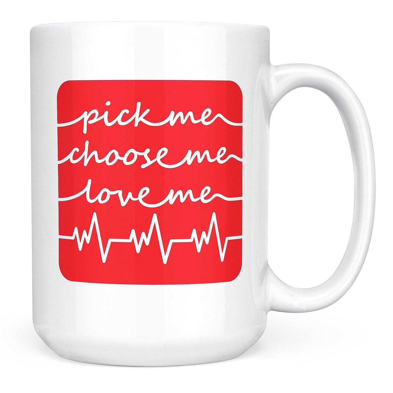 439073bf053 Grey's Anatomy Coffee Mug - Pick Me Choose Me Love Me - Microwaveable  Coffee Mug - 15oz Ceramic