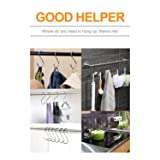 "30 Pack Large S Hooks, 3.35"" S Shaped Hanging Hook, S Hangers for Kitchen, Office, Bathroom, Garden and Cloakroom"