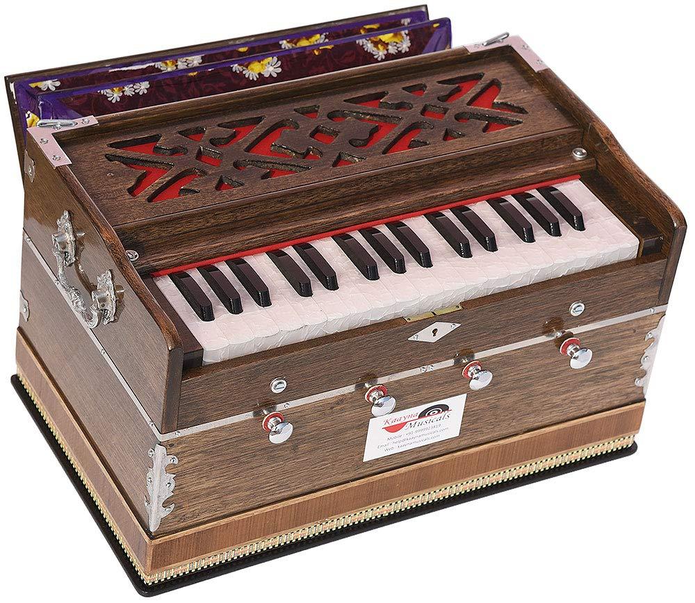 Harmonium Mini Magic By Kaayna Musicals, 4 Stops- 2 Main & 2 Drone, 2¾ Octaves, Rat Colour, Gig Bag, Bass/Male- 440 Hz, Best for Yoga, Bhajan, Kirtan, Shruti, Mantra, Meditation, Chant, etc.