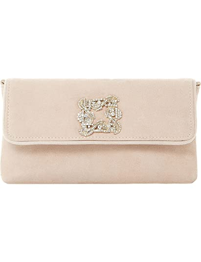 867548a7549 Dune Betsey suede clutch bag nude  Amazon.co.uk  Shoes   Bags
