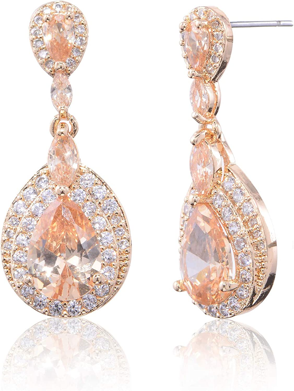 Cluster Citrine Earrings  Wire Wrapped Citrine and Pearls Dangle Ethnic Jewelry  Gold Tear Drop Bohemian Earrings  Gemstone Earrings