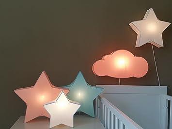 Luminaire Enfantapplique Muraleapplique Enfants Nuage Coral 50 X