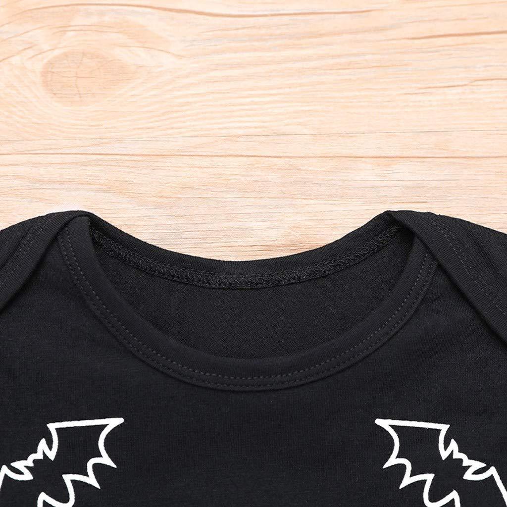 0-24 Mesi Unisex Bambino Manica Lunga Cosplay a Pipistrello Tuta Cappello Fumetto Outfits per Bimbo e Bimba Tophappy Pagliaccetto Neonata Halloween