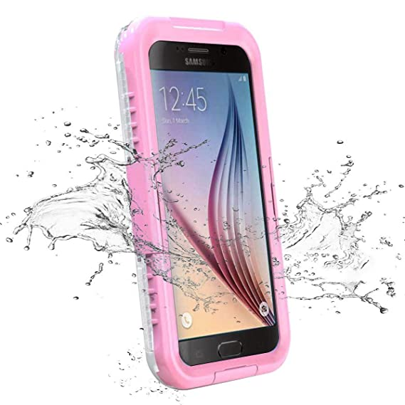 save off fcb5a 7a4ab Galaxy S6 Waterproof Case, iThroughTM 20ft Waterproof, Dust Proof, Snow  Proof, Shock Proof Case with Silicone Membrane Touched Screen Protector, ...