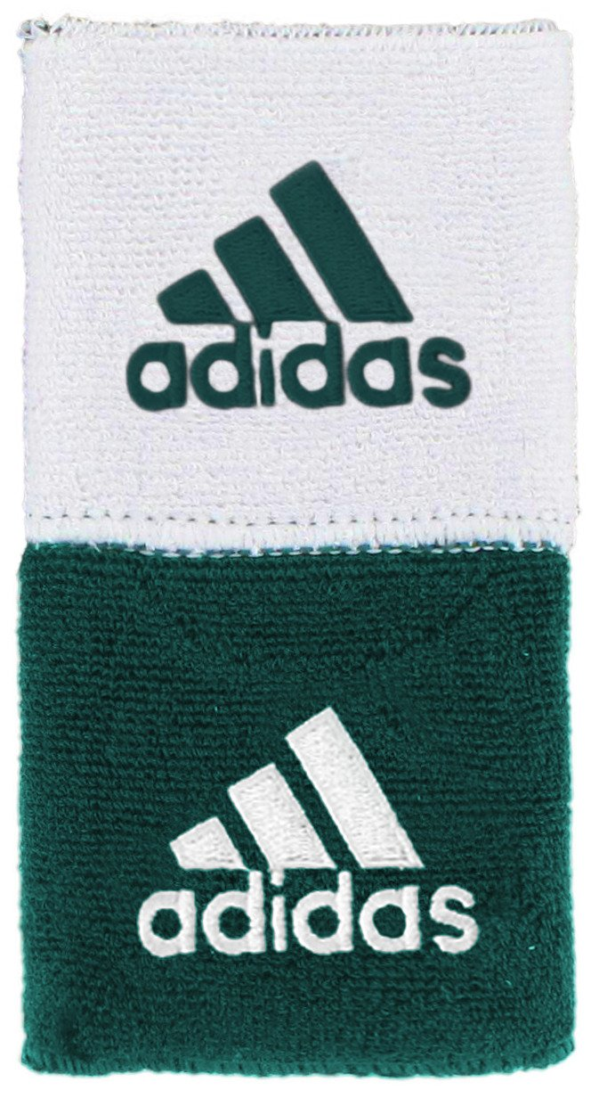 adidas Interval Reversible Wristband, Dark Green/White, One Size by adidas (Image #1)