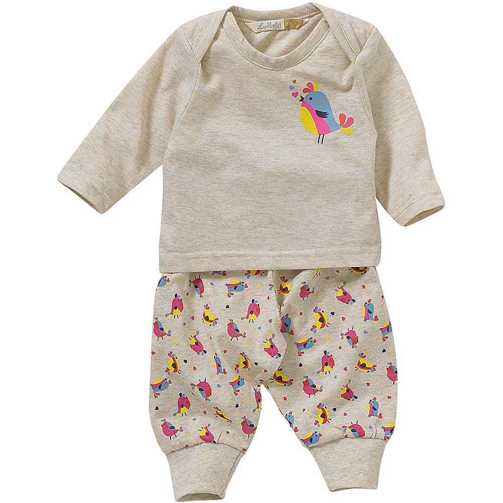 Lullaby Baby Girls Cute Tweeting Hearts Chick Bird Print Pyjamas
