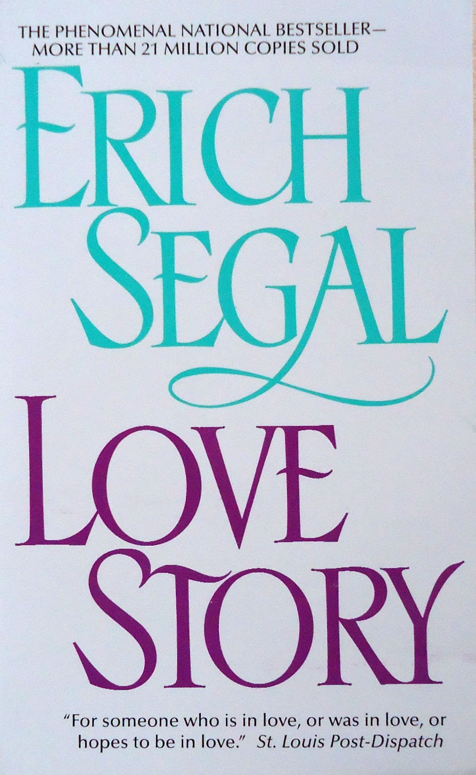 Love Story Erich Segal 9780380017607 Amazon Com Books